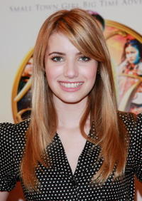 Emma Roberts at the American Girl Store in N.Y. to promote