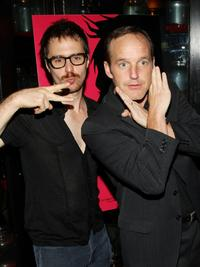 Sam Rockwell and director Clark Gregg at the after party of