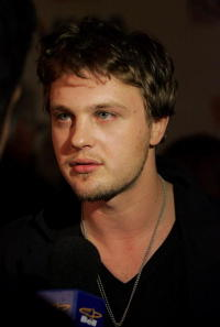 Actor Michael Pitt at the premiere of