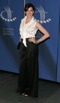Anne Hathaway at the opening night reception of