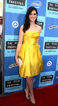 Anne Hathaway at the L.A. premiere of