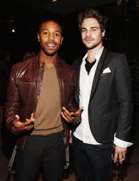 Michael B. Jordan and Grey Damon at the 2011 Entertainment Weekly And Women In Film Pre-Emmy party in California.