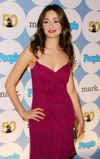 Emmy Rossum at the People Magazine's Official GRAMMY Kick-Off party.