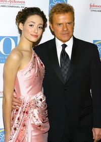 Emmy Rossum and Mike Jerrick at the Skin Sense Awards presented by the Skin Cancer Foundation.