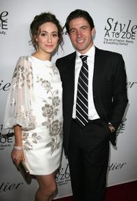 Emmy Rossum and Frederic De Narp at the launch of the new book entitiled