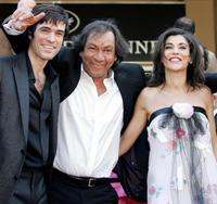 Romain Duris, director Tony Gatlif and Lubna Azabal at the official projection of