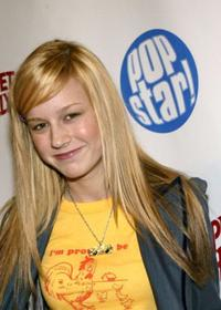 Brie Larson at the Popstar Magazines album release party of