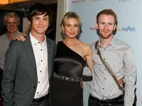 Logan Lerman, Renee Zellweger and Mark Rendall at the premiere of