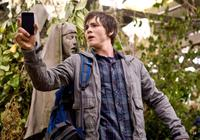 Percy Jackson (Logan Lerman) uses his PDA to track the deadly Gorgon Medusa - while avoiding Medusa's deadly gaze that turns her victims to stone in
