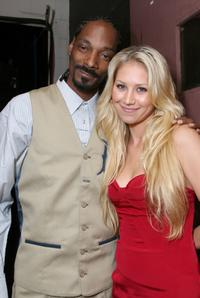 Snoop Dogg and Anna Kournikova at the 22nd Annual Sports Spectacular.