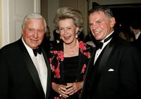 Merv Griffin, Dina Merrill and Ted Hartley at the Museum of Television and Radio gala honoring of Merv Griffin.