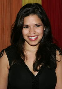 """America Ferrera at the after party for the opening night of """"Dog Sees God"""" in New York City."""