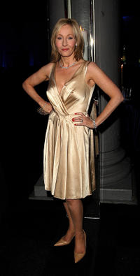 J.K. Rowling at the after party of the European premiere of