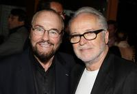 James Lipton and Christopher Trumbo at the party of
