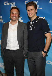 Norbert Leo Butz and Aaron Tveit at the Broadway Rehearsal Sneak Peek of