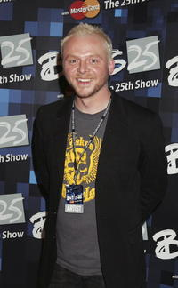 Simon Pegg at the 25th Anniversary BRIT Awards in London, England.