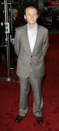 """Simon Pegg at the UK Premiere of """"Mission: Impossible III"""" in London, England."""