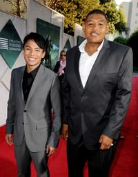 Gregory Woo and Omar Benson Miller at the screening of