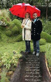 Barbara Bach and Ringo Starr at the 4Head Garden of Dreams at Chelsea Flower Show.