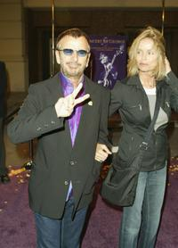 Barbara Bach and Ringo Starr at the special screening at the Steven J. Ross Theater at Warner Bros. Studios of the film ''Concert for George