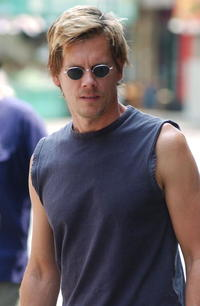 Kevin Bacon on the Set of