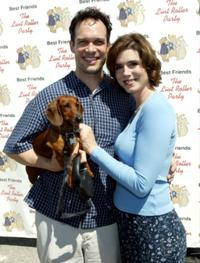Diedrich Bader and his friend at the Best Friends Lint Roller Party.