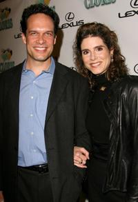 Diedrich Bader and his wife Dulcy Rogers at the celebration for Cloris Leachman's 60 years in show business.