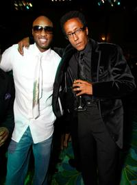 Lamar Odom and Andre Royo at the HBO EMMY Party.