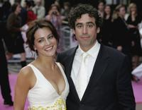 Stephen Mangan and Guest at the world premiere of