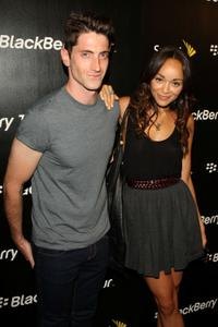 Iddo Goldberg and Ashley Madekwe at the BlackBerry Tour Smartphone From Sprint launch party.