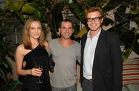 Kate Beahan, Rob Marsala and Simon Baker at the Australians In Film party.