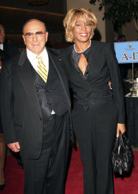 Whitney Houston and producer Clive Davis at the 15th Annual Ella Awards in California.