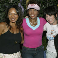 Producer Debra Martin Chase, Whitney Houston and Diane Warren at the California premiere of