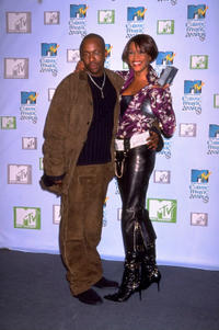 Bobby Brown and Whitney Houston at the 1999 MTV Europe Music Awards in Dublin.