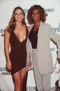 Mariah Carey and Whitney Houston at the 1998 MTV Video Music Awards in California.
