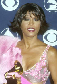 Whitney Houston at the 42nd Annual Grammy Awards in Los Angeles.