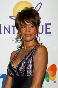 Whitney Houston at the 2008 Clive Davis Pre-GRAMMY party in California.