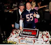 C. Thomas Howell and Edward Allen Bernero at the 100th episode celebration for the television show