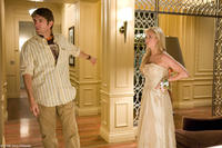 Director Nelson McCormick and Brittany Snow on the set of