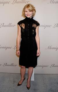 Emilie de Ravin at the Monique Lhuillier Salon opening.