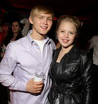 Evan Ellison and Sofia Vassilieva at the after party of the New York premiere of