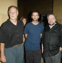 Director/actor Werner Herzog, director Paul Thomas Anderson and Ricky Jay at the premiere of