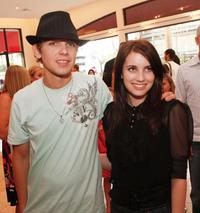 Max Thieriot and Emma Roberts at the after party of the premiere of