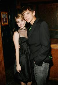Emma Roberts and Max Thieriot at the after party of the premiere of