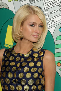 Paris Hilton during MTV's Total Request Live at the MTV Times Square Studios in N.Y.