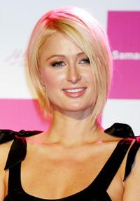 Paris Hilton at the press party announcing the launch of the new Christmas collection of Samantha Thavasa.