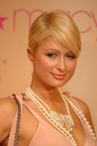 Paris Hilton at an event promoting her new fragrance