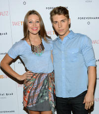 Nolan Funk and Guest at the New York premiere of