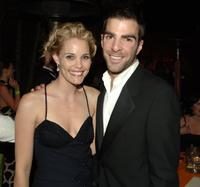 Zachary Quinto and Guest at the HBO's Post Golden Globe after party.