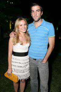Kristen Bell and Zachary Quinto at the 7th annual InStyle Magazine summer soiree.